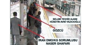 Surveillance video still showing a meeting in İstanbul between a Tawhid-Salam member and Naser Ghafari, the top representative of the Quds Force in Turkey.